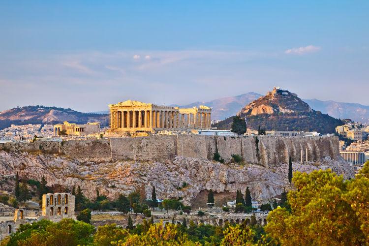 Athény Severní Svahy Akropole řecko Na Světadílech