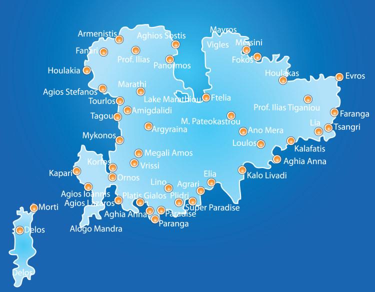 Ostrov Mykonos Recko Na Svetadilech